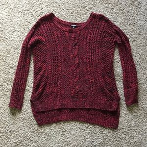 Express Red and Black Knit Sweater Size Small